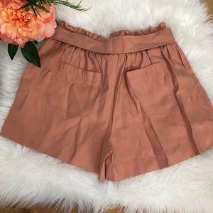 BCBGMaxAzria Shorts - BCBGMAXAZARIA Paperbag style tie-up shorts